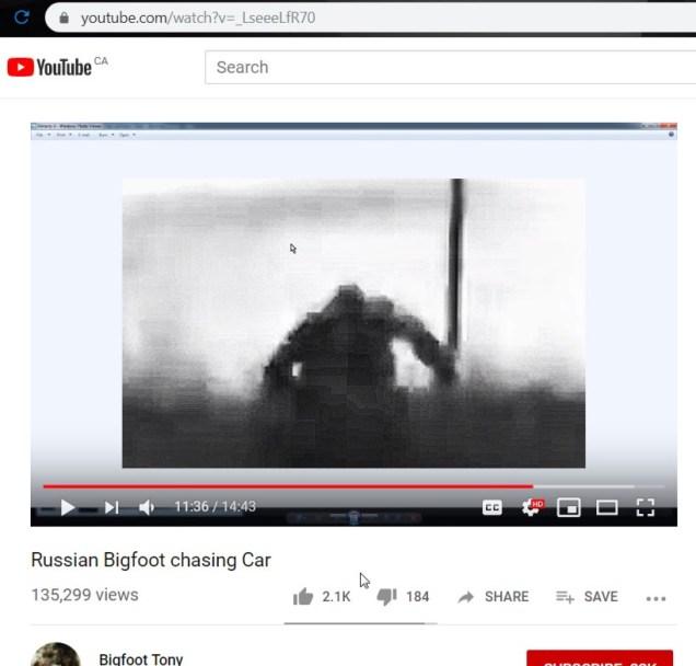 bigfoot tony with car chase